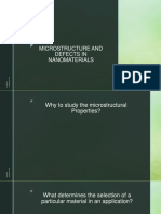 Microstructure and Defects in Nanomaterials