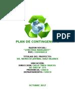 Plan de Contingencias Lenceria Margaret