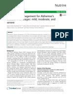 Nutritional Management for Alzheimer's