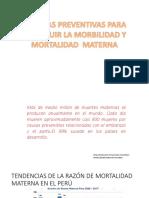 Medidas Preventivas Para Disminuir La Morbilidad y Mortalidad Materna
