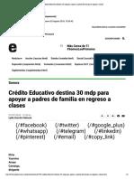 27-07-18-Expreso-Crédito Educativo destina 30 mdp para apoyar a padres de familia en regreso a clases