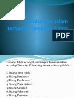 Sumbangan Islam Terhadap Tamadun China