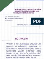 Procesos Principales en Las Instancias de Gestion Descentralizada Desde Los Consejos Participativos