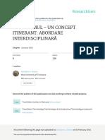 Culturemul-un Concept Itinerant Abordare Interdisciplinara