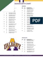 UAlbany football 2018 opening depth chart