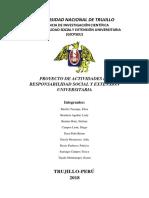 PROYECTO DE ACTIVIDADES DE RESPONSABILIDAD SOCIAL Y EXTENSIÓN UNIVERSITARIA