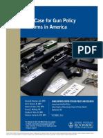 whitepaper020514 caseforgunpolicyreforms