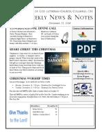 Lamb of God Weekly News & Notes