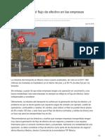 La importancia del flujo de efectivo en las empresas transportistas.