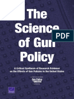 the science of gun policy  a critical synthesis of research evidence on the effects of gun policies in the united states
