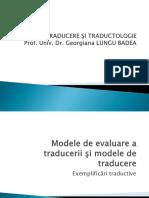 Modele de Evaluare a Traducerii