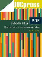 Redes Sin Causa. Una Critica a Las Redes s - Geert Lovink