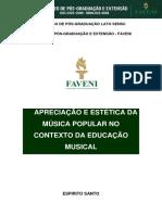 1 Apreciação e Estética Da Música Popular No Contexto Da Educação Musical