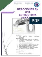Reacciones en Estructura