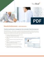 On Demand Performance Management System SumTotal RoD Datasheet