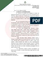 Clase 15 - CNACC, Sala 6, Chocobar, Luis Oscar Sobre Procesamiento y Embargo