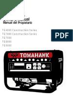 Tomahawk Portable Gas Generator 2018 Series - Manual