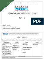 8º Ano Fund. II - Manhã - Plano de Ensino de Arte