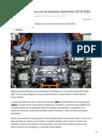 Presentan Diálogos con la Industria Automotriz 2018-2024.