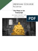 The Pieta in Art