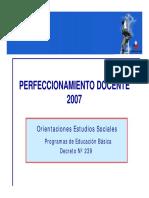 Perfeccionamiento Docente Ciencias Sociales