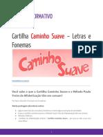 Cartilha Caminho Suave – Letras e Fonemas- Os Sons Das Letras