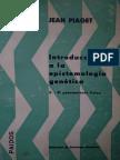 Jean Piaget Introducción a La Epistemología Genética 2 El Pensamiento Físico 2(1975, Paidós)