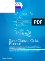 Desinfección Por U, Serie Classic Gold Platinum