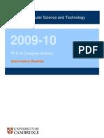 Computer Laboratory PhD Handbook