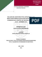 Relación del Monitoreo Fetal Intraparto