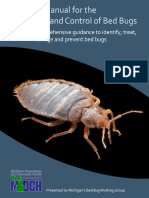 MICHIGAN MANUAL FOR THE PREVENTION AND CONTROL OF BED BUGS