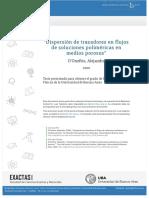 """""""Dispersión de trazadores en flujos de soluciones poliméricas en medios porosos"""""""