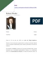 Biografía de Robert Hooke
