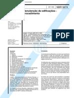 NBR 5674-1999 - Manutenção de Edificações - Procedimento