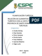 Espacio Turístico en La Planificación Del Destino Competitivo Santo Domingo de Los t