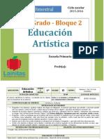 Plan 1er Grado - Bloque 2 Educación Artística