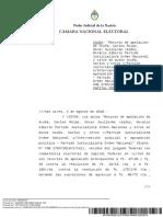 Fallo de la Cámara Nacional Electoral del final de la intervención en el PJ Nacional