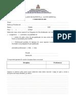 Formulário Matrícula Alunos Especiais2018-2