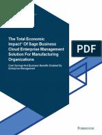 TEI Study Sage Enterprise Management - Manufacturing