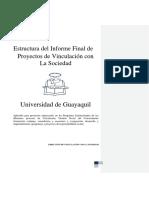 Estructura Del Informe Final de Proyectos de Vinculación Con La Sociedad