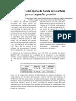 Ampliación Del Ancho de Banda de La Antena Impresa Con Parche Parasito