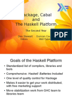 Hackage, Cabal and the Haskell Platform