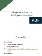 Trabajo en Equipo Con Inteligencia Emocional