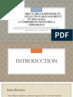 Gap in Subject Area Expertise Najibah Norziati