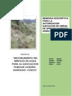 MEMORIA PARA EJECUCION DE OBRAS DE CONSTRUCCION
