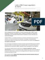 Sector automotriz pide a AMLO mayor seguridad e impulso al mercado interno.