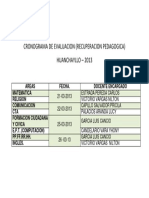 Cronograma Eval Recup. Pedagogica