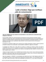 EcInm - Presidente Correa pide a Gustavo Vega que rectifique declaración en medio de comunicación