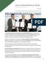 CANACAR apuesta por la profesionalización en Tlaxcala.
