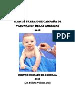 Plan de Vacunación Anual 2016